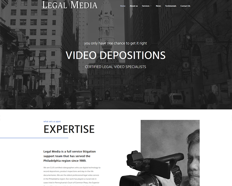 legal website development company services