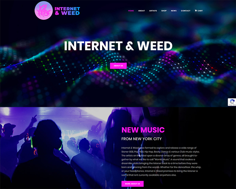 record label web design music websites
