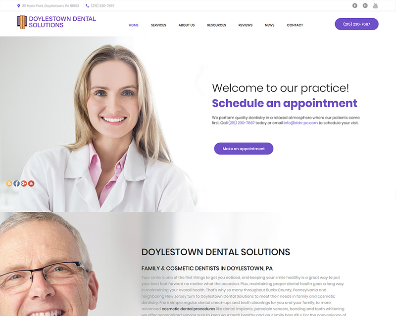 website designs dentists web developers